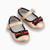 Nava Maryjanes for Girls (Infants/Toddlers/Kids) - Gold by Meet My Feet