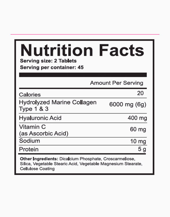 Collagen Boost with Vitamin C  (6000 mg per serving, 90 Tablets) by The Beauty Peptides