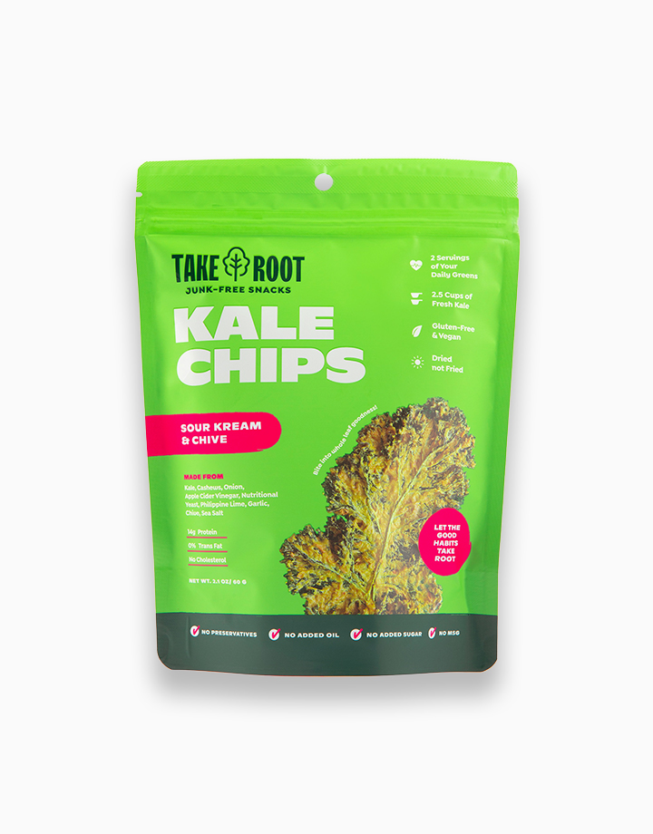 Sour Kream & Chive Kale Chips by Take Root