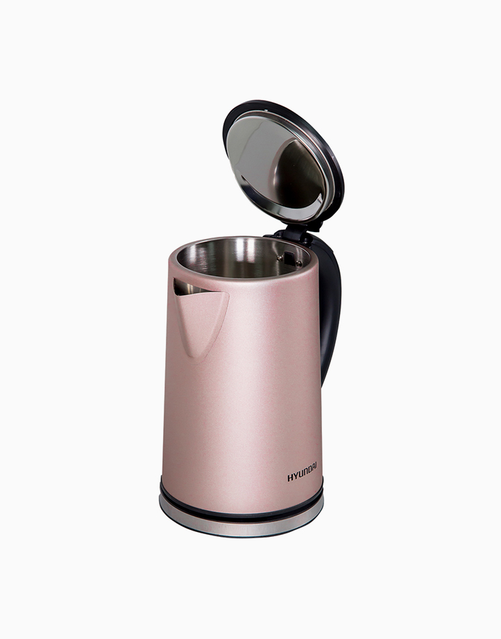 Hyundai 1.8L Capacity Brushed Stainless Steel Body Electric Jug by Hyundai Home Appliances   Pink