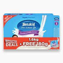 Wyeth bonakid pre school 3  1600g with free bonakid pre school 3  180g