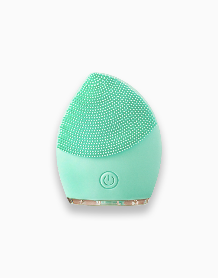 Ultrasonic Silicone Rechargeable Cleansing Device in Green by Happy Skin
