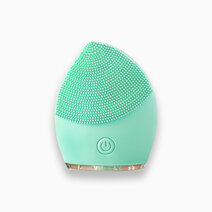 Ultrasonic silicone rechargeable cleansing device in green