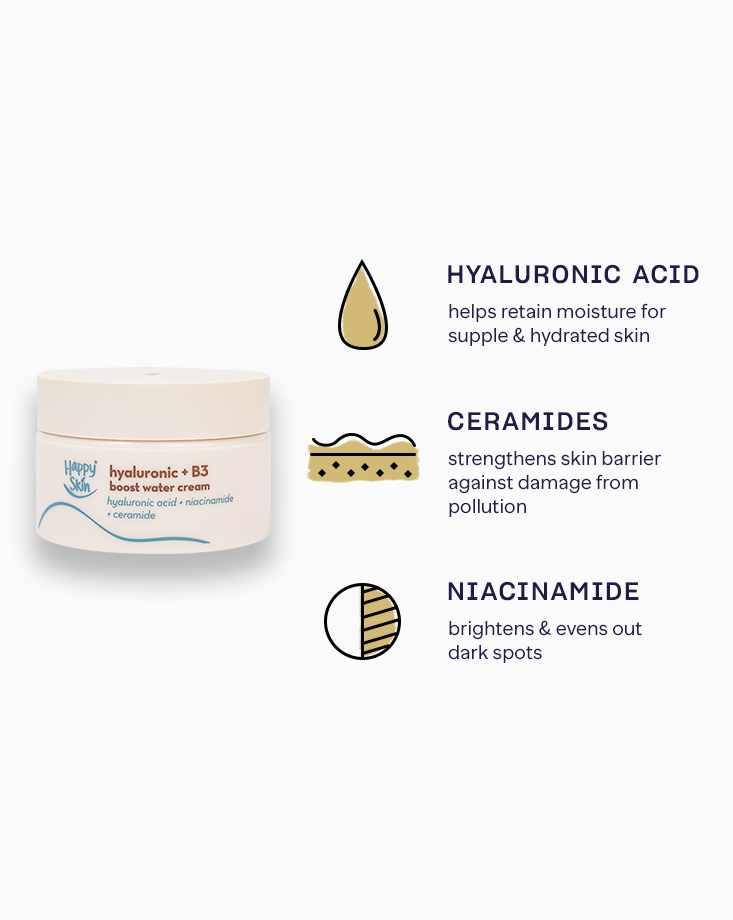 Happy skin sets 5 boost water cream