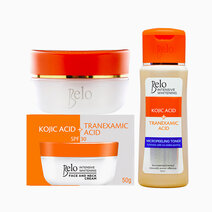 belo kojic face neck cream 50g free kojic micropeeling toner 60ml