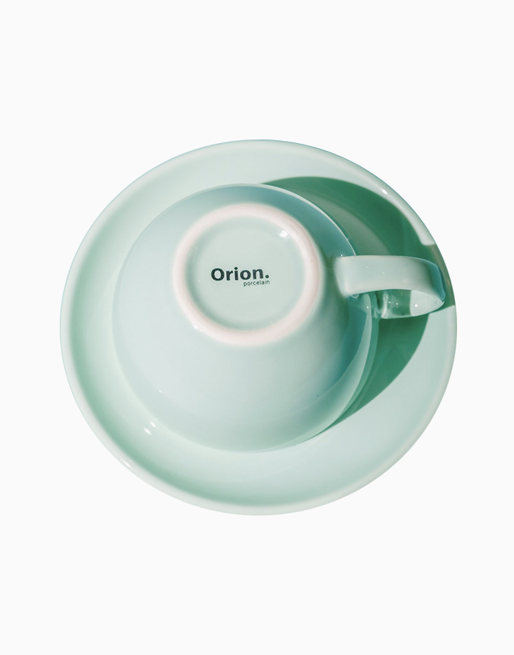 Egg Coffee/Tea Cup & Saucer 220ml by Orion. | Sky Blue