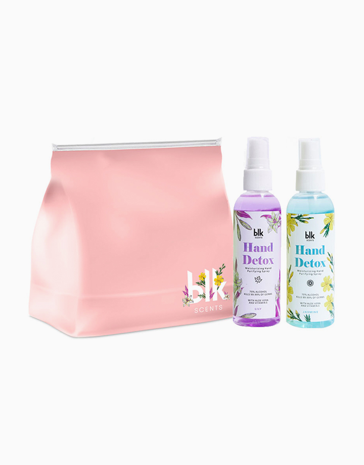 blk scents K-Beauty Hand Detox Duo with Free Flower Pouch by BLK Cosmetics