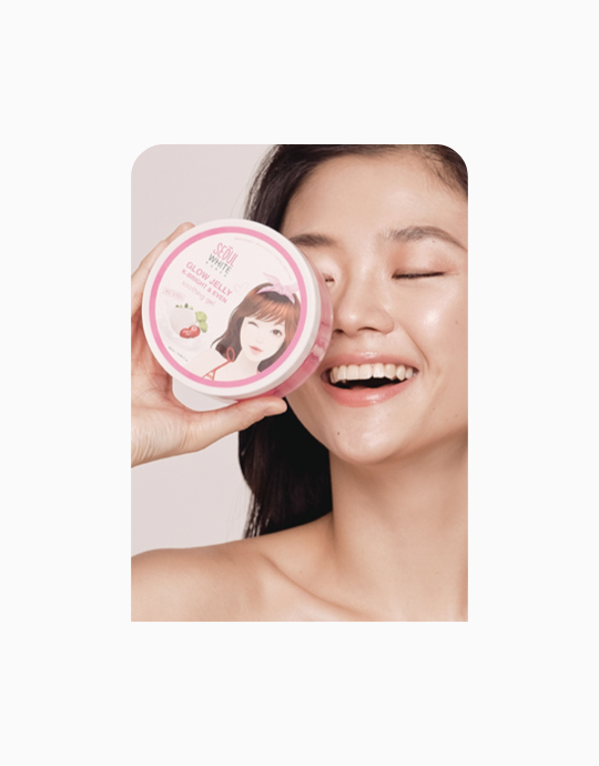 Glow Trio Set: Whip It! Whip Soap + Glow Jelly Soothing Gel + Rose Quartz Roller by Seoul White Korea