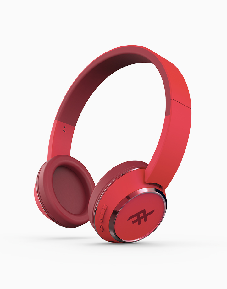 Coda Wireless Bluetooth Headphone With Mic by iFrogz | Red