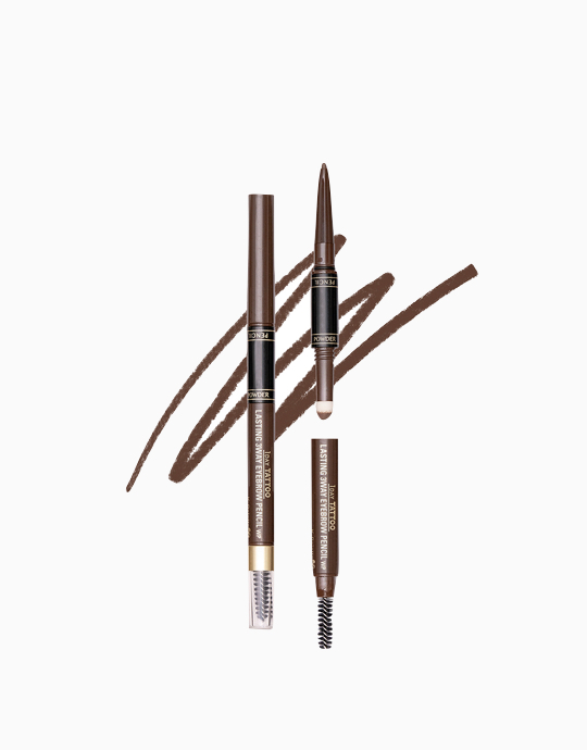 K-Palette 1Day Tattoo Lasting 3Way Eyebrow Pencil 24H (Reformulated) by K-Palette | Mocha Brown 03