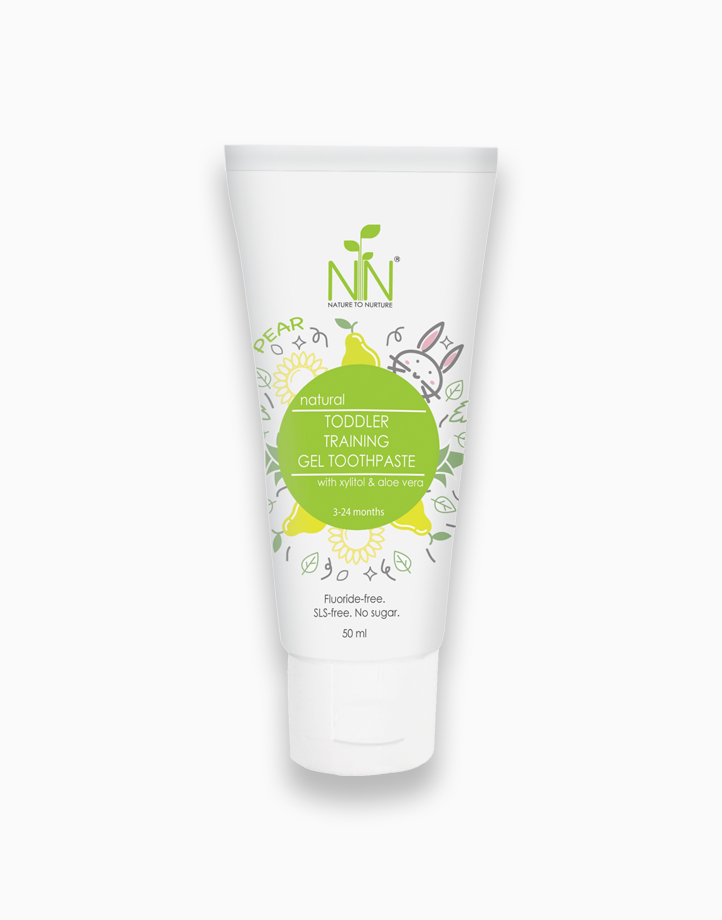 Toddler Training Fluoride-Free Gel Toothpaste Yellow Green (3 Months to 2 Years Old) by Nature to Nurture