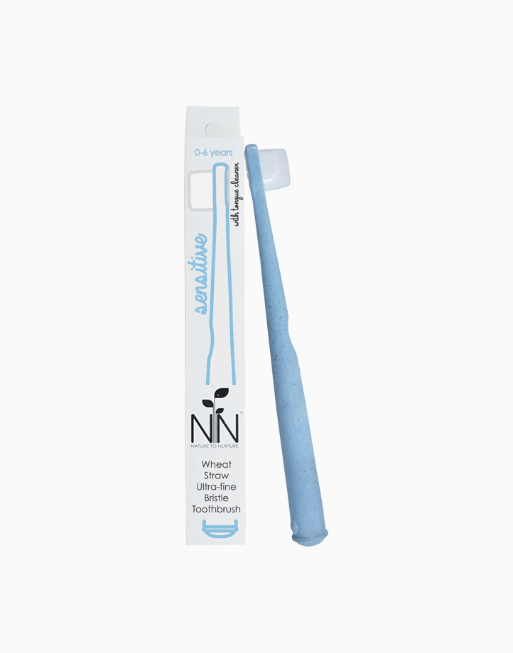 Wheat Straw Ultra-Fine Bristle Toothbrush (0-6 Yrs old) by Nature to Nurture   Blue