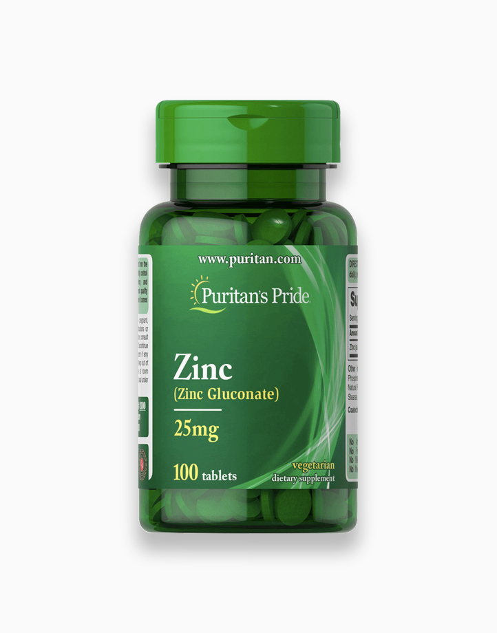 Zinc Gluconate 25mg (100 Tablets) by Puritan's Pride