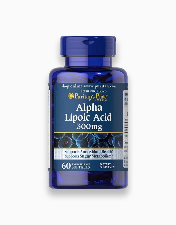 Alpha Lipoic Acid ALA 300mg (60 Softgels) by Puritan's Pride