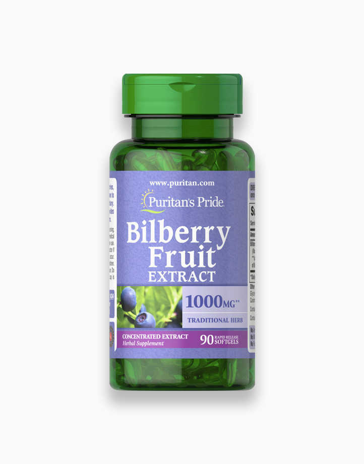 Bilberry 4:1 Extract 1000mg (90 Softgels) by Puritan's Pride