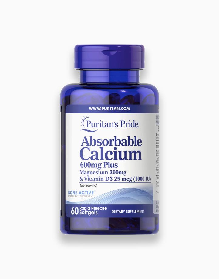 Calcium 600mg + Magnesium 300mg Vitamin D3 1000iu (60 Softgels) by Puritan's Pride