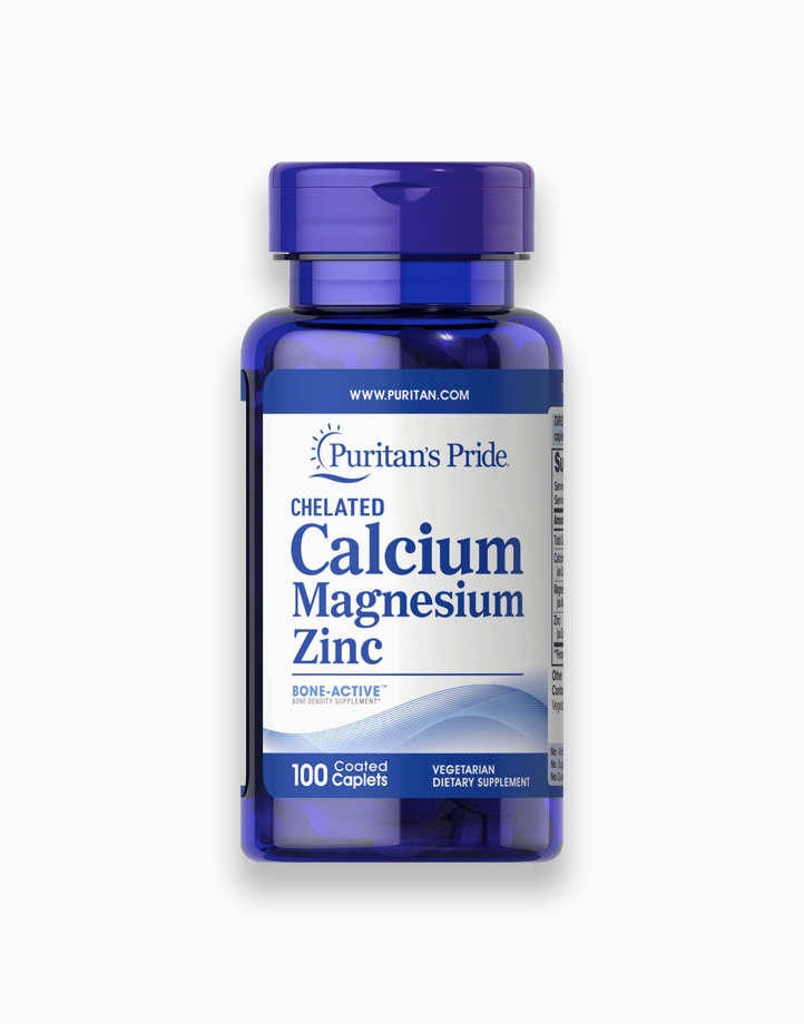 Calcium Chelated Magnesium Zinc (100 Caplets) by Puritan's Pride