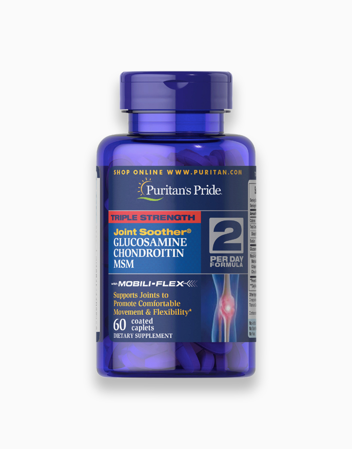 Glucosamine Chondroitin MSM Triple Strength (60 Caplets) by Puritan's Pride