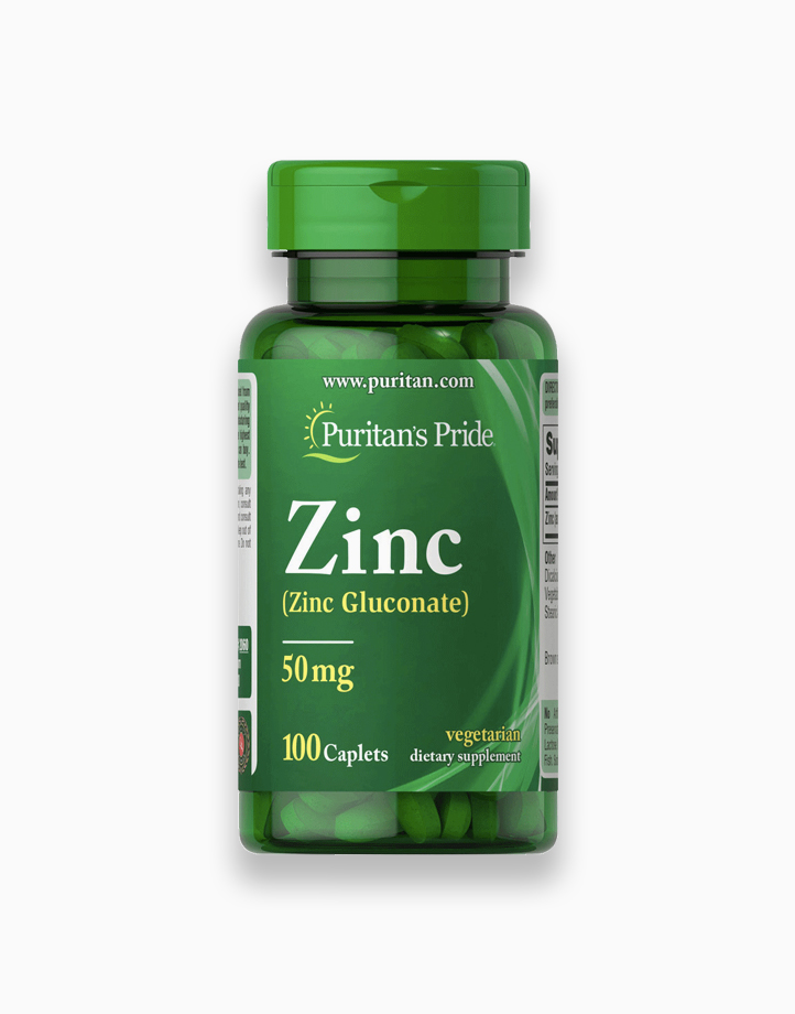 Zinc (50mg, 100 Tablets) by Puritan's Pride