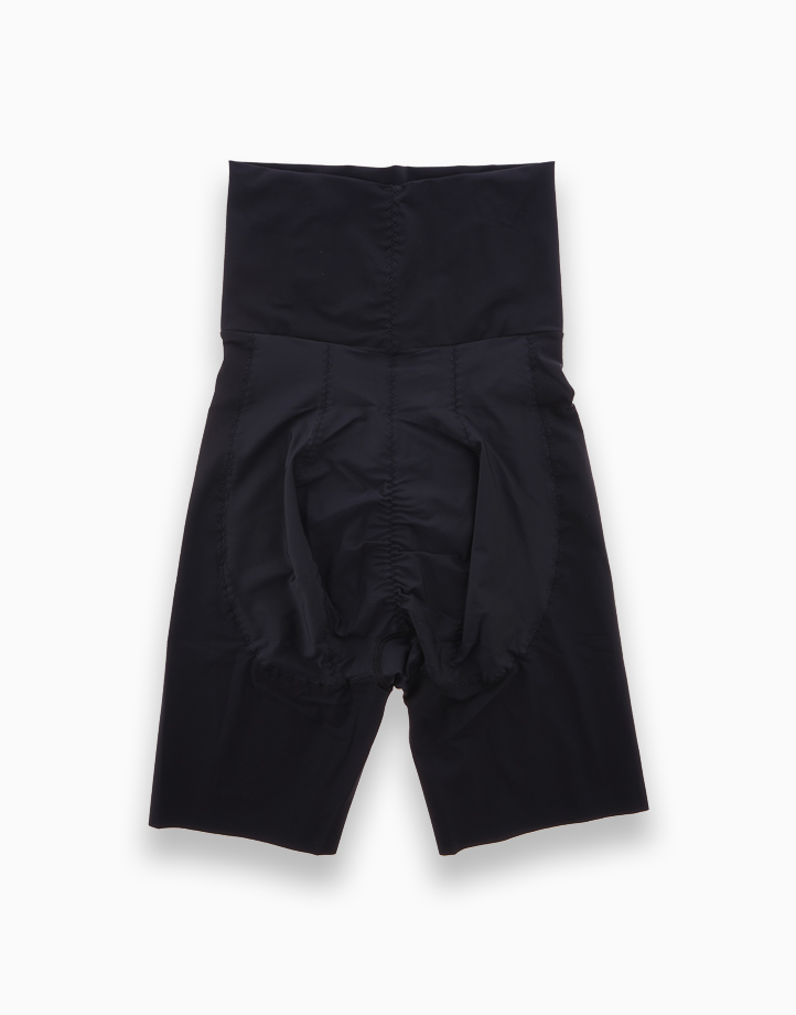High-Waisted Shaper Shorts with Energy Stones (Black) by Adam & Eve   M