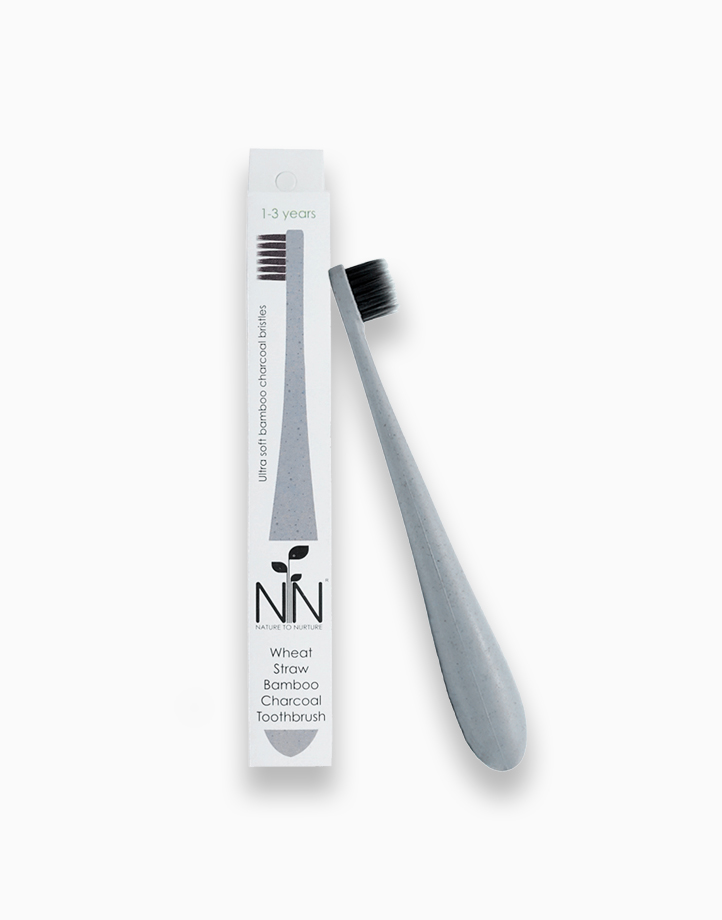 Wheat Straw Bamboo Charcoal Toothbrush (1-3 Years Old) by Nature to Nurture | Gray