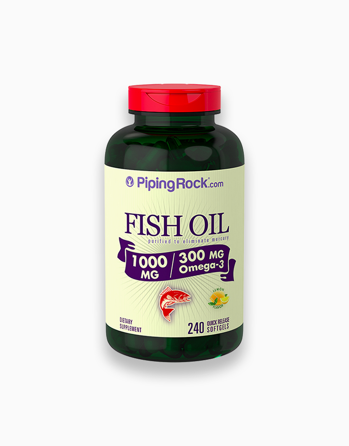 Omega-3 Fish Oil Lemon Flavor (240 Softgels) by Piping Rock