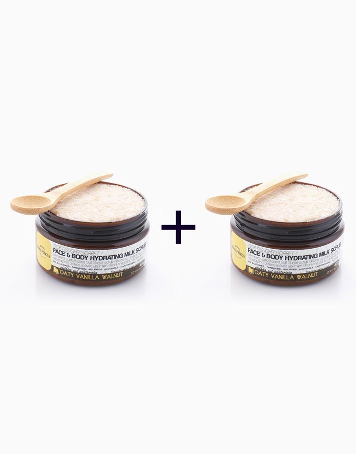 Face & Body Hydrating Milk Scrub in Oaty Vanilla Walnut (400g) (Buy 1, Take 1) by Danni Parcca