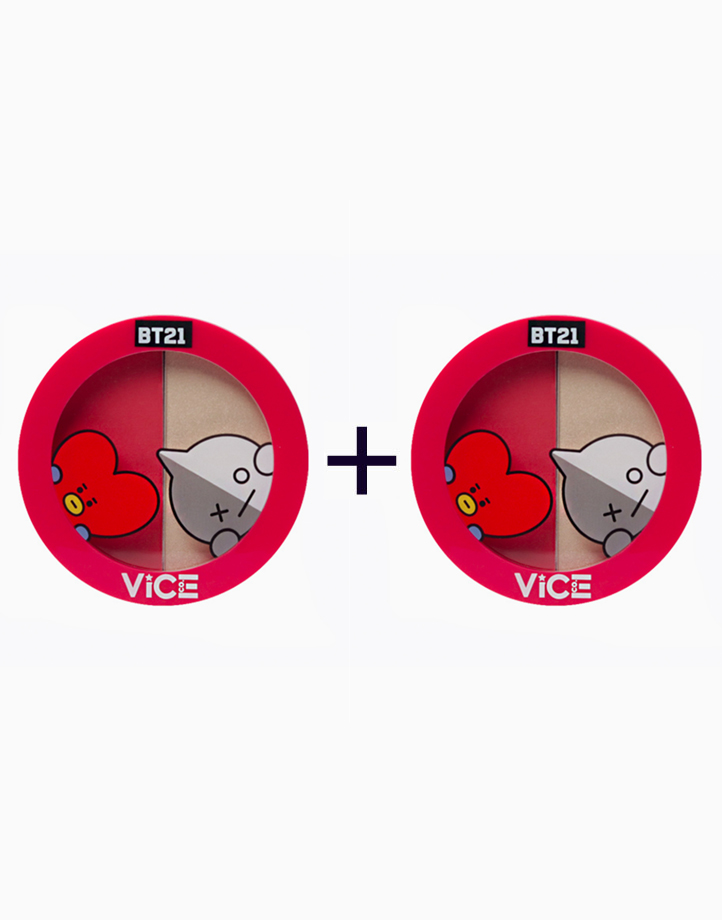 """BT21 Aura Blush and Glow Duo (Buy 1, Take 1) by Vice Cosmetics   """"Poppy Red"""" Duo"""