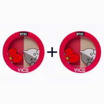 Re b1t1 vice cosmetics bt21 aura blush and glow duo poppy red duo