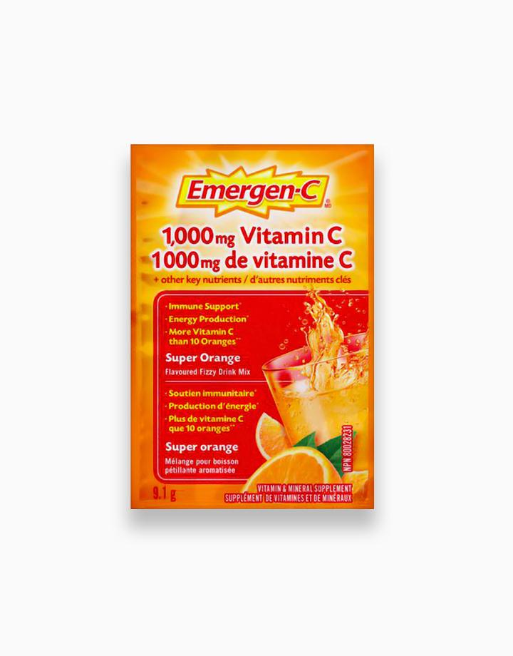Super Orange Flavor Dietary Supplement Fizzy Drink Mix with 1000mg Vitamin C (1 Sachet) by Emergen-C