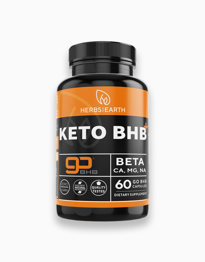 KETO goBHB Keto Diet Pills for Weight Loss (60 Caps) by Herbs of the Earth
