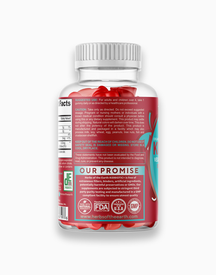 Probiotics for Kids KIDBIOTIC+ - 2.5 Billion CFU (30 Gummies) by Herbs of the Earth