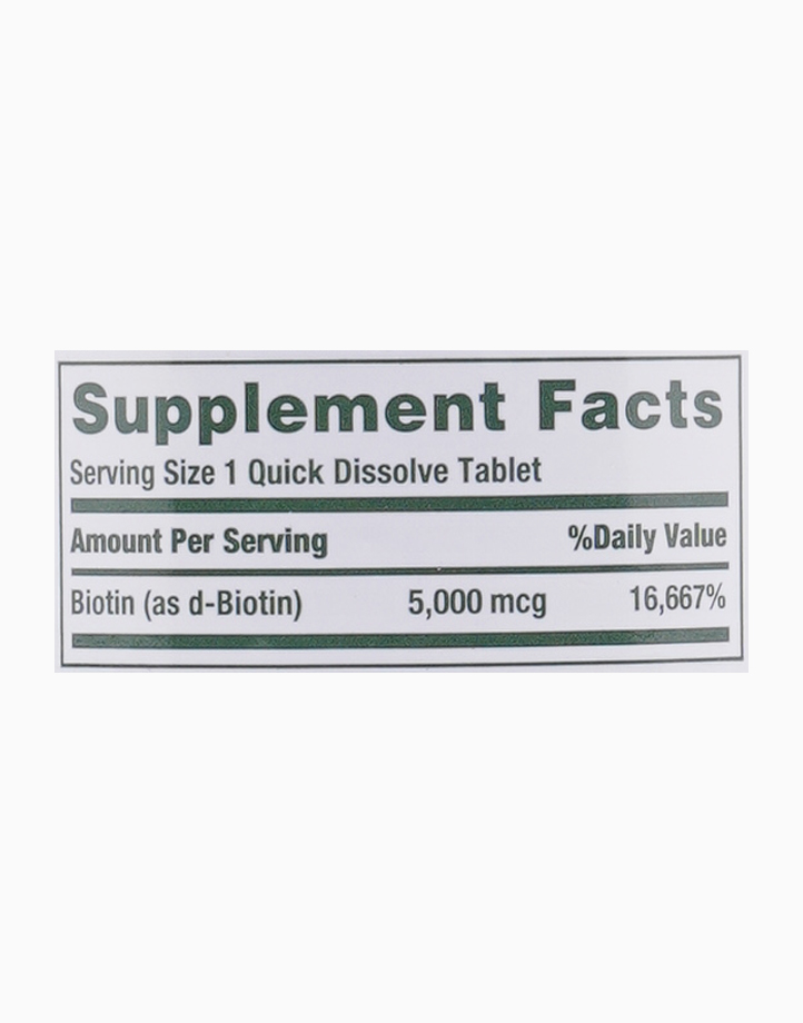 Biotin (5,000 mcg, 60 Quick Dissolve Tablets) by Nature's Bounty