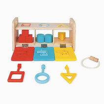 Janod shape sorter box with keys 1