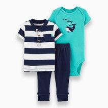 Re carter s baby boy 2 piece whale   stripes pant set
