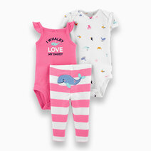 Re carter s baby girl 3 piece i whaley love my daddy little character set