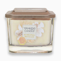 Re yankee candles rice milk honey   medium elevation candle