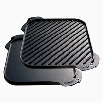 Re lodge 10 5 inch seasoned cast iron single burner reversible grill   griddle