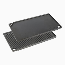 Re lodge 16 75 x 9 5 inch seasoned cast iron double burner reversible grill griddle