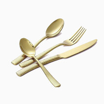 Re 4pc. catherine cutlery set gold