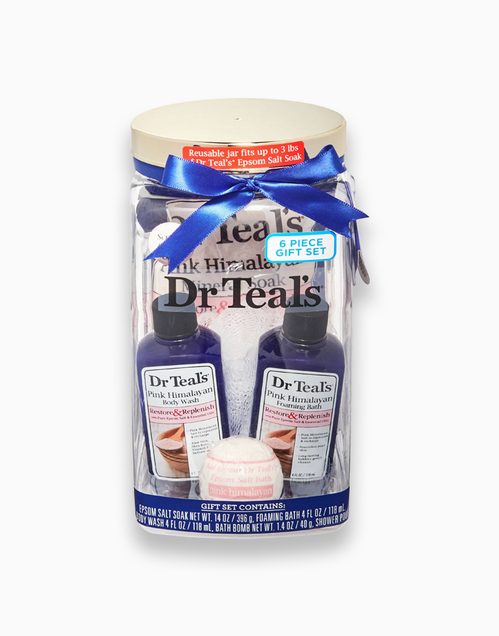 Restore & Replenish Pink Himalayan Bath Pain Relief Gift Set by Dr. Teal's