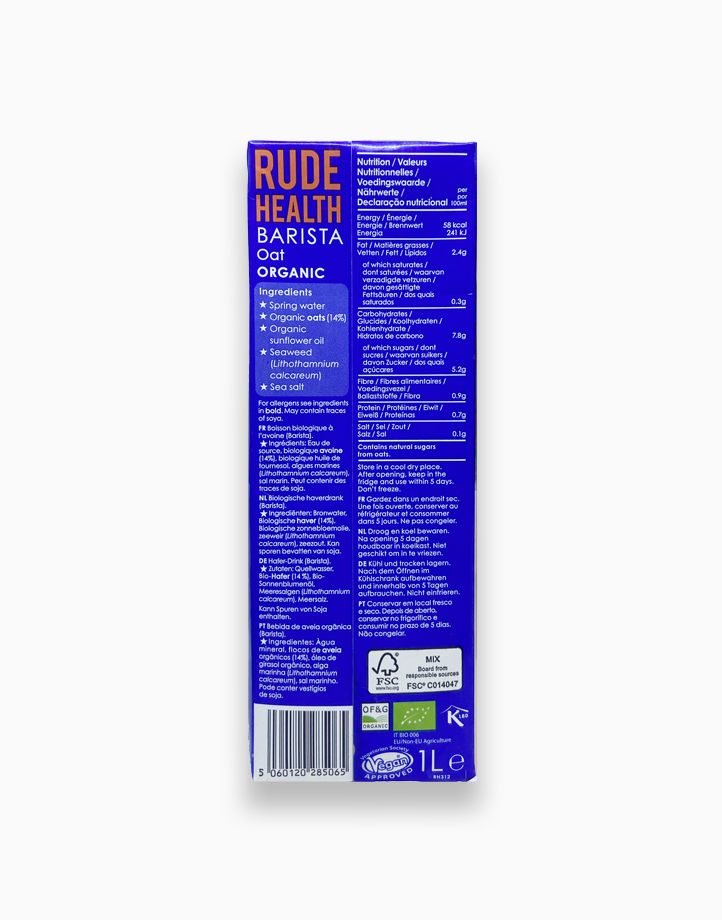Rude Health Barista Oat Drink (1L) by Raw Bites