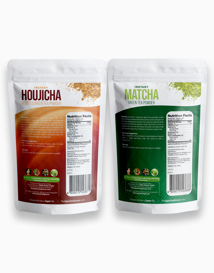 Instant Matcha & Houjicha Roasted Green Tea Bundle by The Superfood Grocer