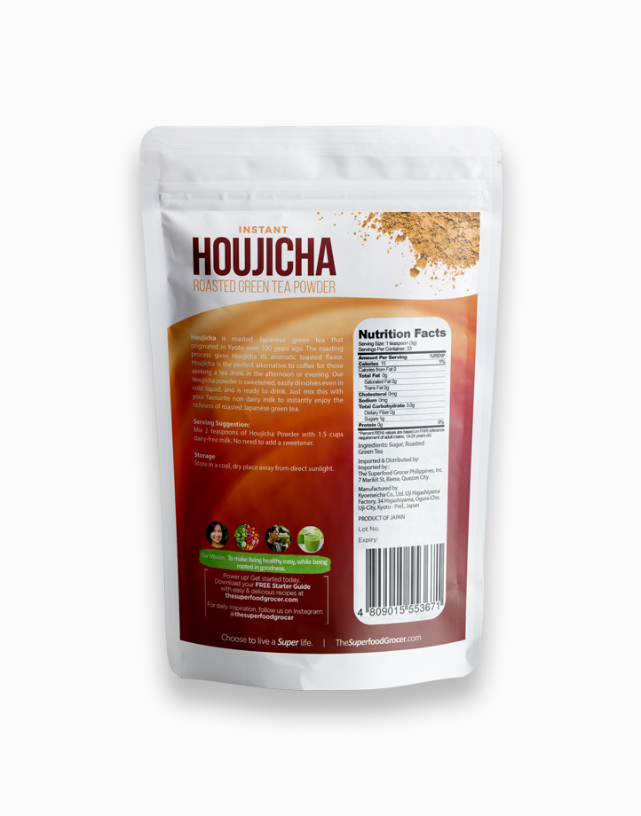 Instant Houjicha Premium Roasted Green Tea Powder (100g) by The Superfood Grocer
