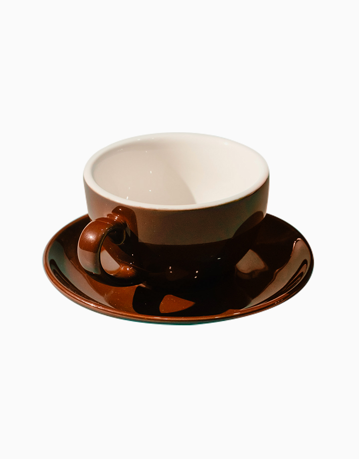 Egg Coffee/Tea Cup & Saucer 220ml by Orion. | Brown