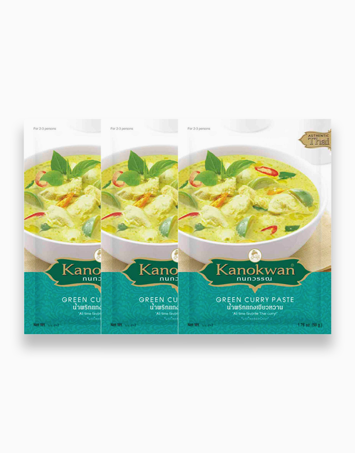 Green Curry Paste (50g) - Pack of 3 by Kanokwan