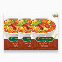 Re kanokwan red curry paste 50g %28pack of 3%29