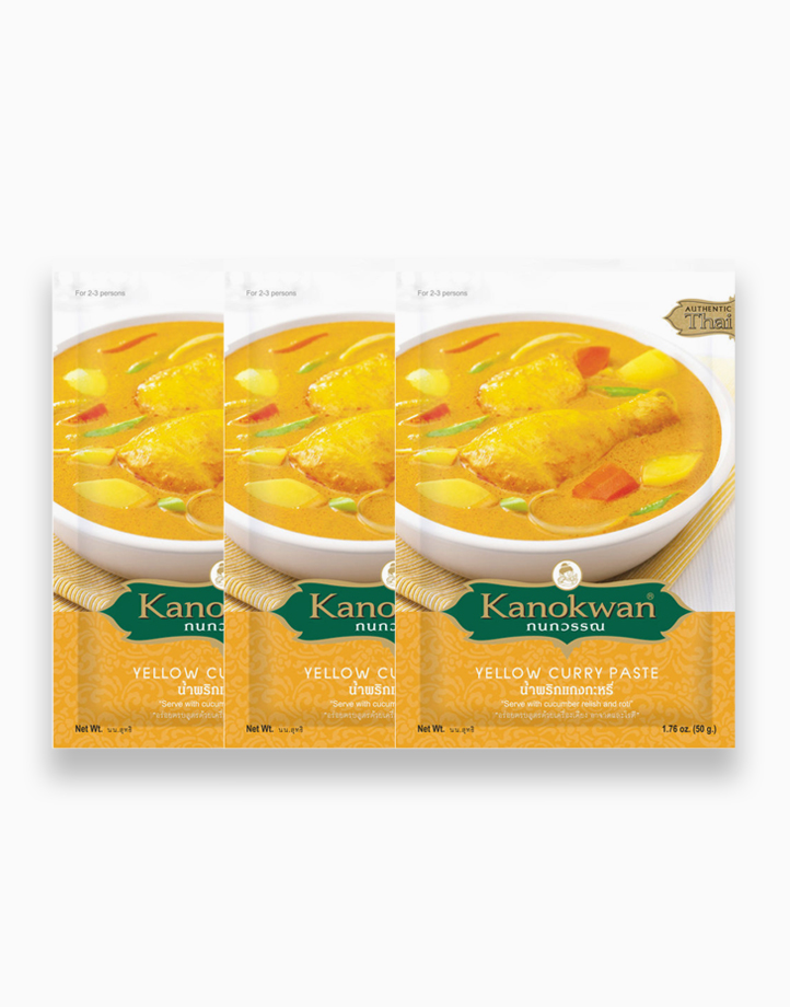 Yellow Curry Paste (50g) Pack of 3 by Kanokwan