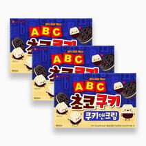 Re lotte abc choco cookie cookies n cream flavor 42g %28pack of 3%29