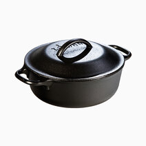 Lodge lodge 2 quart seasoned cast iron serving pot